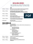 2009 Annual Conference Schedule for Members