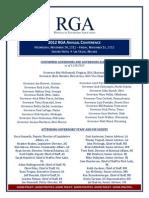 2012 Annual Conference Agenda