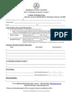 Cabinet Ticketing Form Agenda