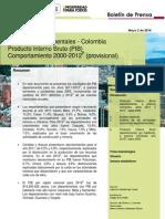 PIB 2011-2012 Provisional DANE