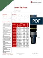 Composite Cement Retainer Technical Datasheet