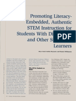 promoting literacy-embedded authentic stem instruction for students with disabilities and other struggling learners