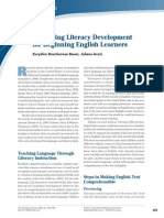 promoting literacy development for beginning english learners  reading teacher