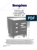 Cocina Hergom Libro de Instrucciones PDF
