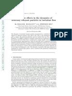 Finite Size Effects in Dynamics