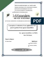 Conception et réalisation d'une application web pour la gestion d'une agence immobilière