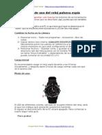 Manual de Uso Del Reloj Espia