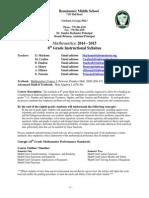 syllabus 8th grade math 2014-2015