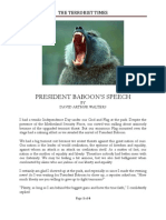 President Baboon's Speech by David Arthur Walters