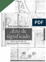 Actos de Significado JEROME BRUNER