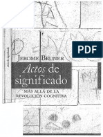 Actos de Significado JEROME BRUNER