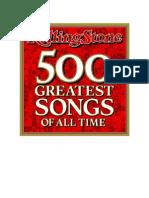 Las 500 Mejores Canciones de La Historia Segun Rolling Stones
