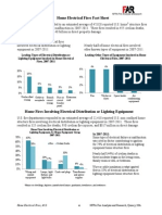 NFPA Home Electrical Fires Fact Sheet 2013