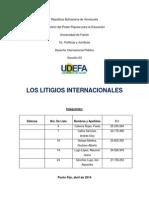 Los Litigios Internacionales