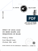 Axial Load Frequencies Beams