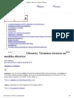 Amperis - Glosario Términos Técnicos en Medida Eléctrica