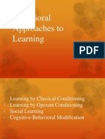 Behavioral Approaches to Learning
