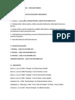 Referencias Fisiología Humana - Calendarizado