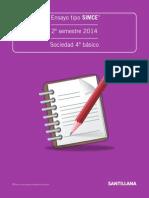 Ensayo tipo SIMCe, II semestre 2014, Sociedad 4° básico