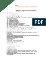 AUDITORIA GOVERNAMENTAL conteudo