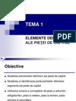 Curs 1 - Elemente Definitorii Ale Pietei de Capital