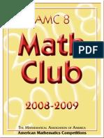 AMC 8 2008-2009 - American Mathematics Competition - AMC 8 Math Club 2008-2009 - 132p