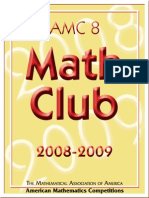 AMC 8 2008-2009 - American Mathematics Competition - AMC 8 Math Club 2008-2009 - 132p
