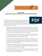 Nueva Versión Acta Acuerdo Jornadas Institucionales. Jorn Ada Septiembre