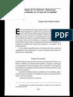 Psicología de La Violencia. Relaciones Interpersonales en El Seno de La Flia.