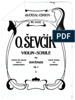Sevcik - Violin School for Beginners Op6 Band1