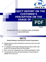 Project Report on the Customer's Perception on the Usage Of
