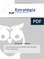 Aula 03 - Alterações Orçamentárias - Créditos Ordinários e Adicionais