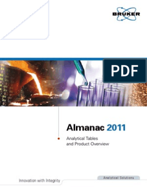 Bruker Almanac 2011 | Nuclear Magnetic Resonance