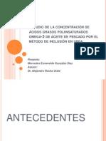 Estudio de La Concentración de Ácidos Grasos Poliinsaturados Ok