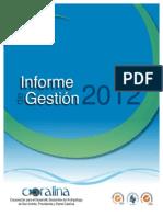 Informe de Gestión Coralina_2012. Ultima