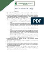 Procedimiento Barrenación Larga