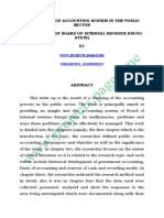 An Appraisal of Accounting System in the Public Sector - Copy
