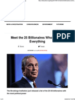Meet the 25 Billionaires Who Control Everything