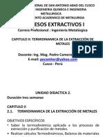 Procesos Extractivos I - Cap. II