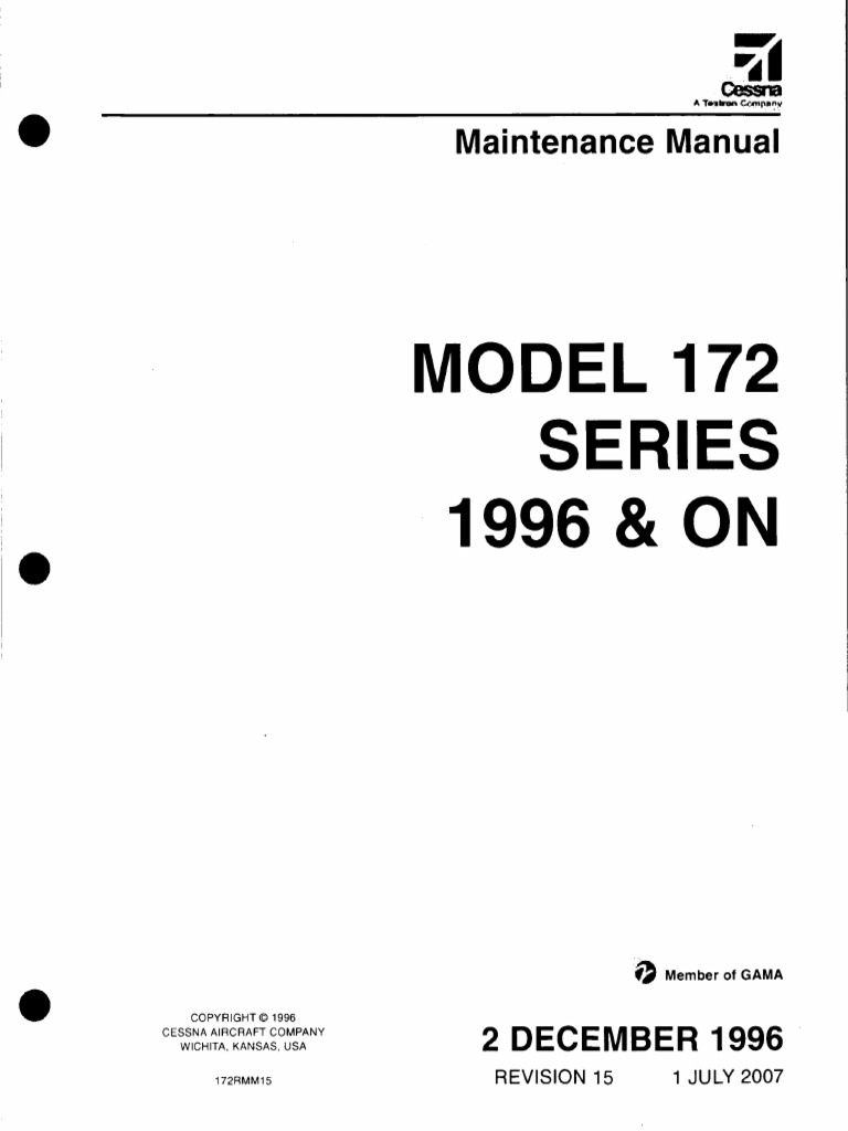 cessna 172 maintenance manual airplane aeronautics rh scribd com cessna maintenance manual pdf cessna maintenance manuals