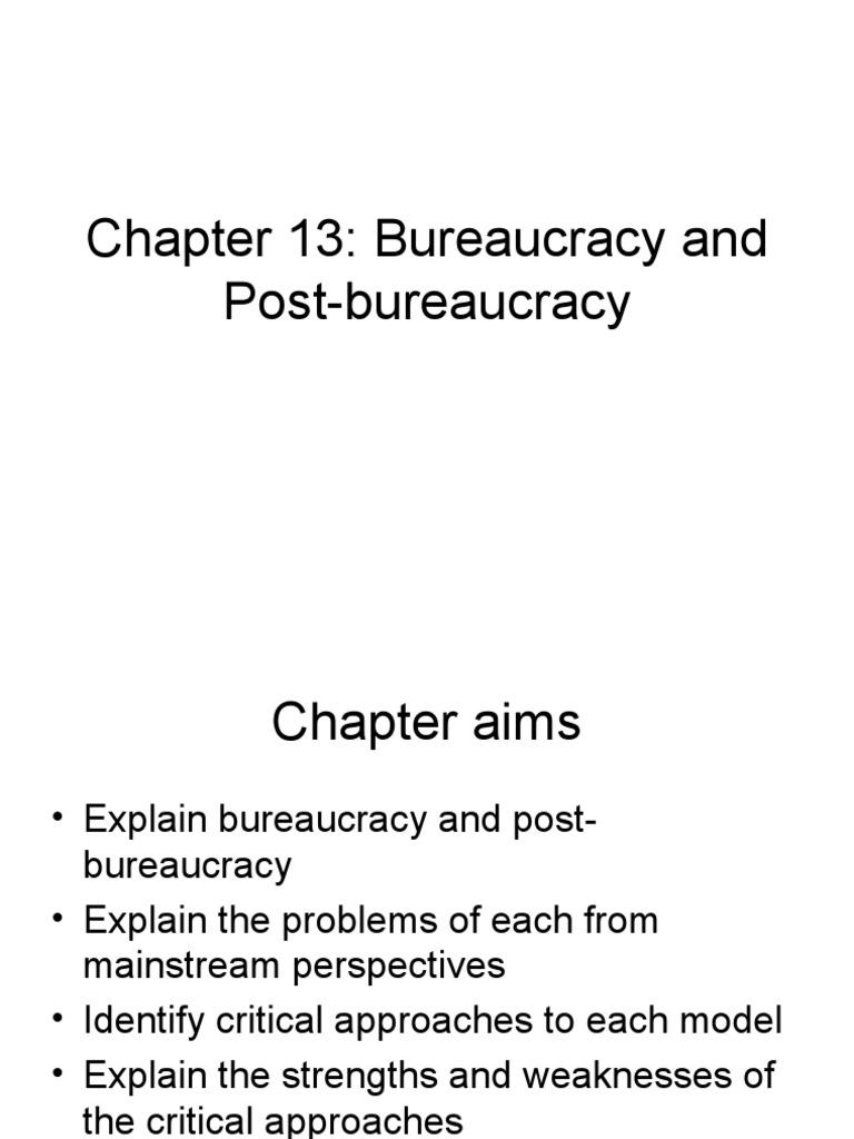 Bureaucracy Essay Essay On Bureaucracy Chapter Bureaucracy And Post