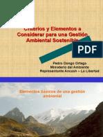 Criterios y elementos a considerar para una Gestión Ambiental Sostenible