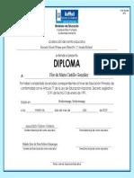 Diploma de Reposicion Año 2014