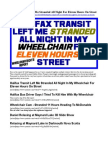 Halifax Transit Left Me Stranded All Night For Eleven Hours On Street