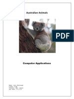 mcdonagh alex australian animals
