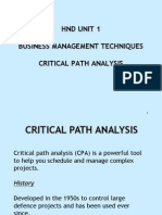 01. Critical Path Analysis - Latest Jan 09