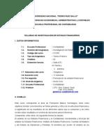Sílabo de Investigacion Estados Financieros Para Contabilidad1