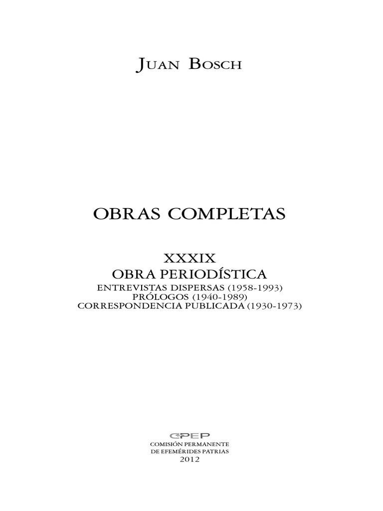 39. Obra Periodística XXXIX