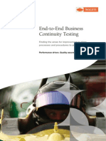 End-To-End Business Continuity Testing