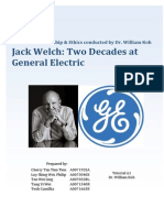 Jack Welch - Two Decades at General Electric